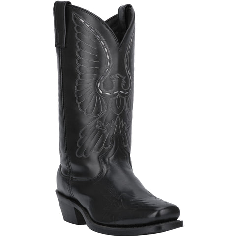 Laredo Mens Gainesville Cowboy Boots Leather Black