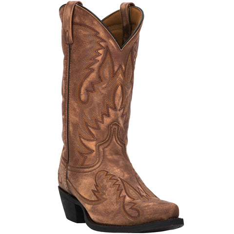 Laredo Mens Garrett Cowboy Boots Leather Tan