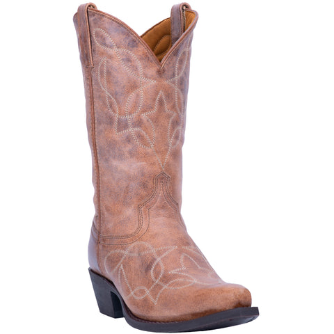 Laredo Mens Tan Cowboy Boots Leather Snip Toe