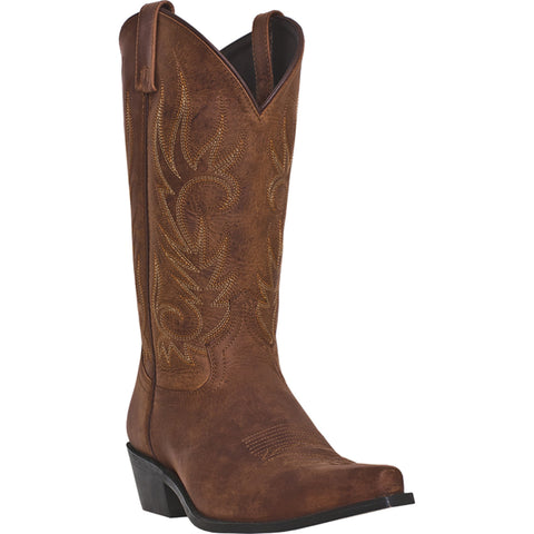 Laredo Mens Brown Crazy Horse Leather Willow Creek 12in Cowboy Boots