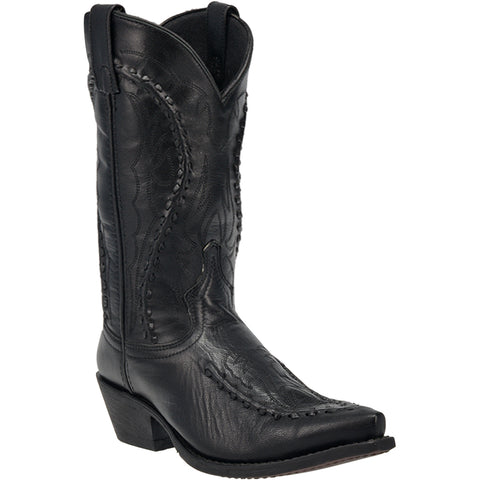 Laredo Mens Laramie Cowboy Boots Leather Black