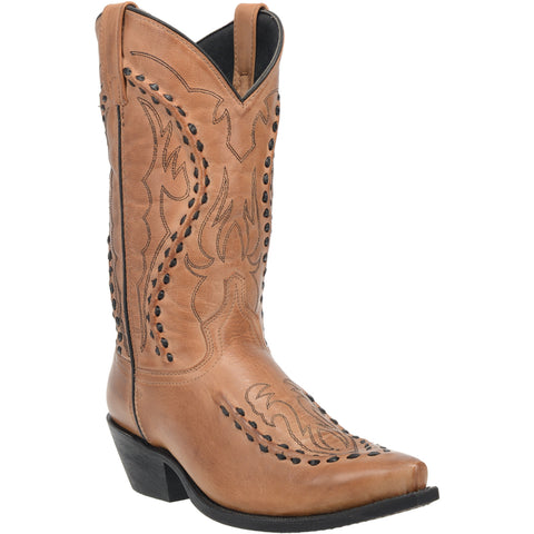 Laredo Mens Laramie Cowboy Boots Leather Tan