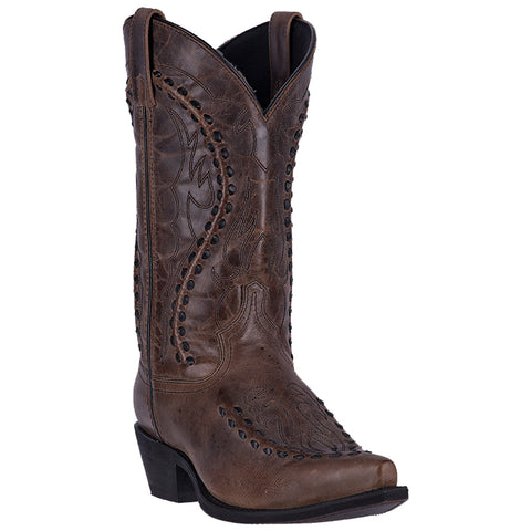 Laredo Mens Laramie Cowboy Boots Leather Brown