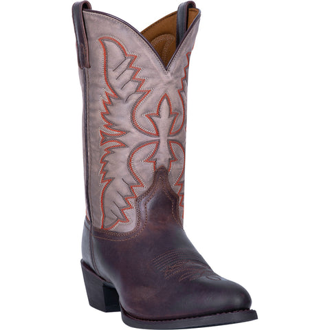 Laredo Mens Birchwood Cowboy Boots Leather Dark Brown