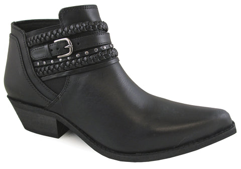 Smoky Mountain Womens Emma Black Leather Ankle Boots