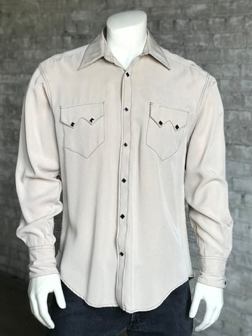 Rockmount Mens Stone Tencel Sueded Western L/S Shirt