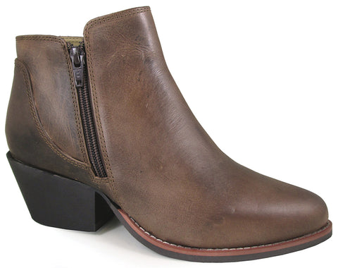 Smoky Mountain Womens Luna Brown Oil Distress Leather Ankle Boots