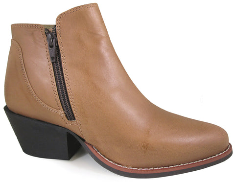 Smoky Mountain Womens Luna Bomber Tan Leather Ankle Boots
