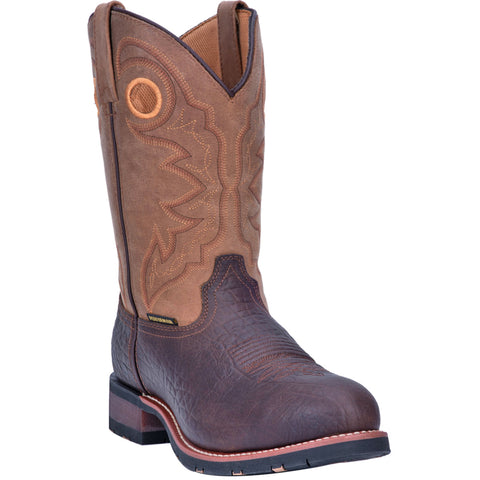 Laredo Mens Brown Saguaro 11in ST Work Boots Leather
