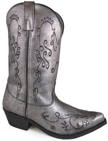 Smoky Mountain Womens Harlow Pewter Leather Cowboy Boots