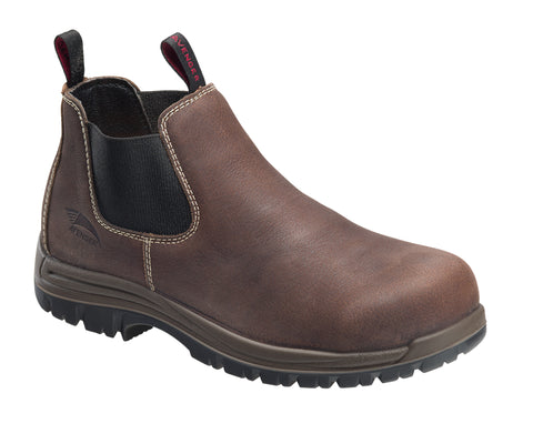 Avenger Mens Brown Leather Comp Toe Romeo PR Work Boots
