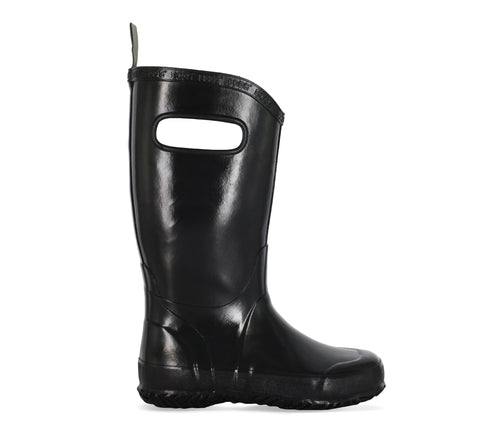 Bogs Kids Black Rubber Solid WP Rain Boots