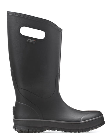 Bogs Mens Black Rubber Waterproof Rain Boots