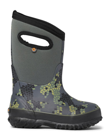 Bogs Kids Dark Gray Multi Rubber Classic Axel Insulated Winter Boots