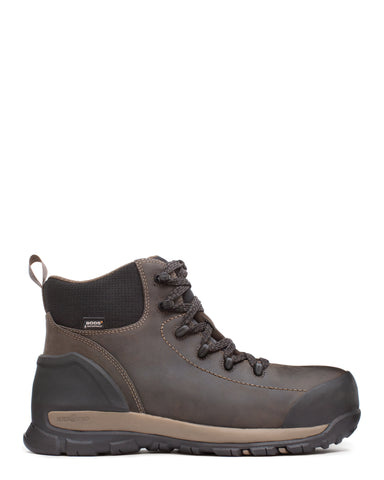 Bogs Mens Brown Leather Foundation Mid CT Work Boots