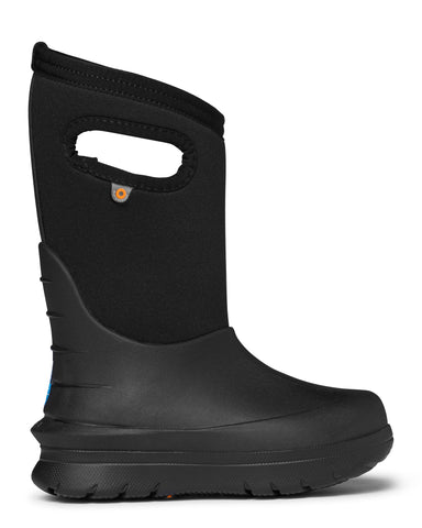Bogs Kids Black Rubber/Nylon Neo-Classic Solid Winter Boots