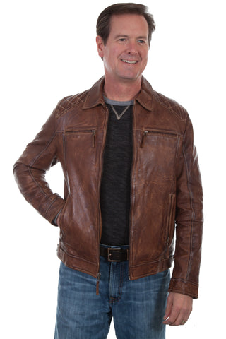 Scully Mens Brown Lamb Leather Rich Jacket