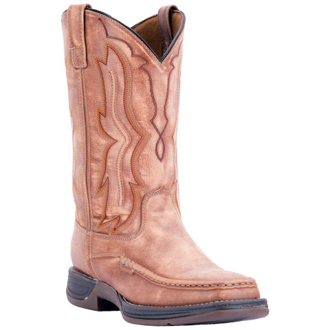 Laredo Mens Tan Cowboy Boots Leather Square Toe