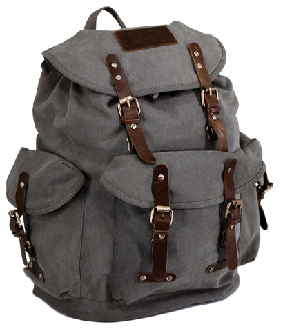 Outback Trading Co. Overlander Satchel Rucksack Tan Canvas Backpack