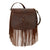 American West Pueblo Moon Crossbody Bag Chestnut Brown Leather