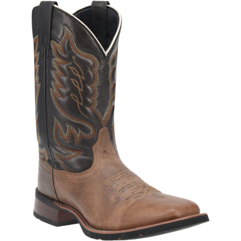 Laredo Mens Montana Cowboy Boots Leather Sand/Chocolate