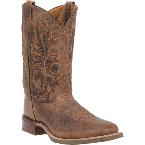 Laredo Mens Rust Cowboy Boots Leather Square Toe