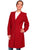 Scully Womens Wahmaker Vintage Style Frock Coat Dark Red 100% Wool Crepe