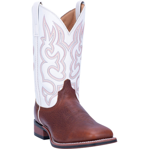 Laredo Mens Redwood Leather Lodi 11in Square Toe Stockman Cowboy Boots