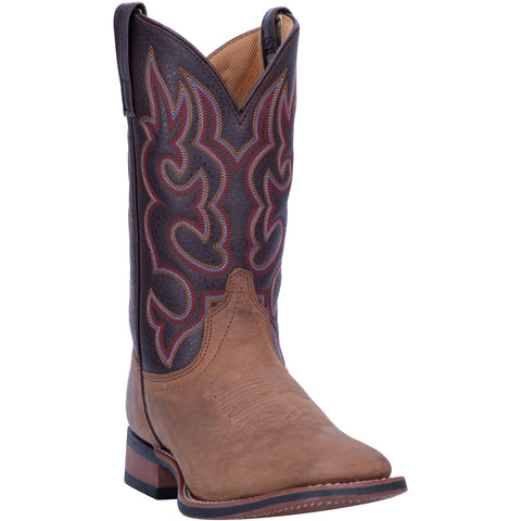 Laredo Mens Lodi Cowboy Boots Leather Taupe/Chocolate