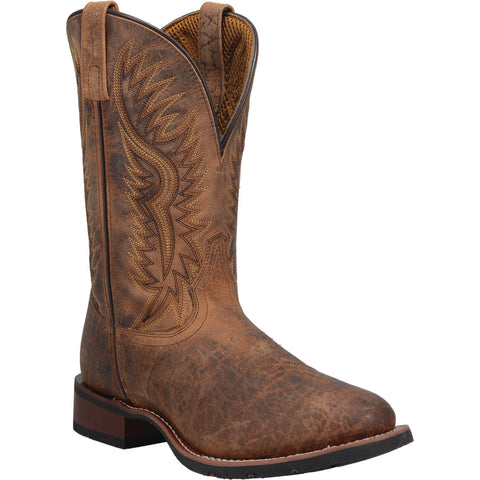 Laredo Mens Brown Pinewood 11in Cowboy Boots Leather