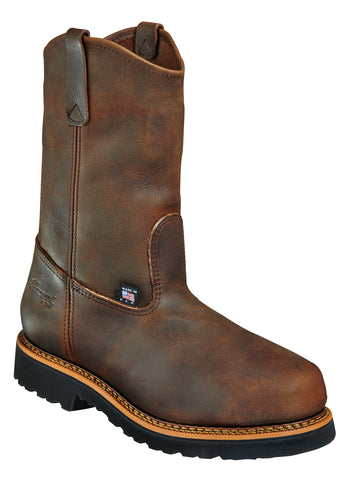 Thorogood Mens EH Brown Leather Classics Boots Wellington Safety Toe
