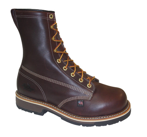 Thorogood Mens Heritage Brown Leather Boots 8in Emperor Safety Toe