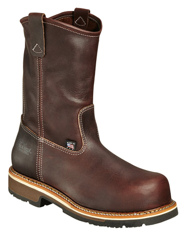 Thorogood Mens Heritage Brown Leather Boot Wellington Emperor Safety Toe