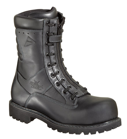 Thorogood Mens Fire & Ice Black Leather Boots 9in WP Power Wildland EMS