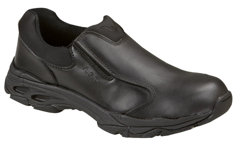 Thorogood Mens Athletic Black Leather Slip Resistant Safety Toe Slip On