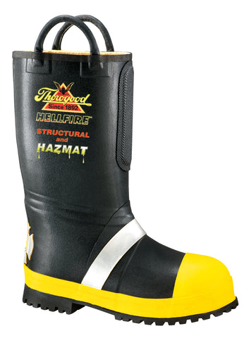 Thorogood Mens Structural Black Rubber Hellfire Insulated Fire Boots
