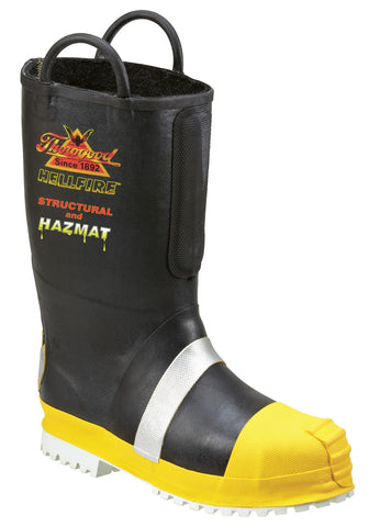 Thorogood Mens Lug Sole Black Rubber Hellfire Insulated Felt Fire Boot