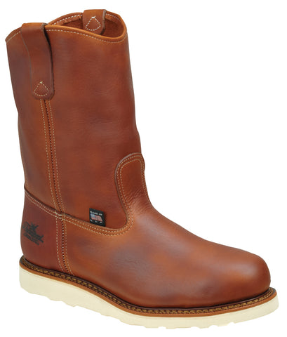 Thorogood Mens Wedges Brown Leather Boots Non-Safety Wellington