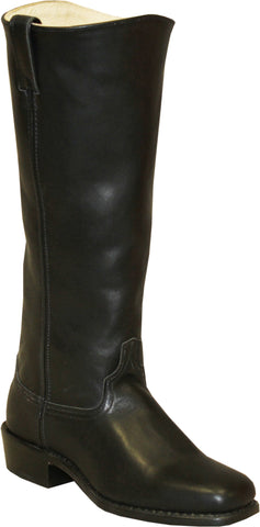 Abilene Mens Black Leather 16in Shooter Cowboy Boots