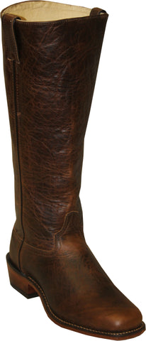 Abilene Mens Antiqued Brown Leather 16in Shooter Cowboy Boots