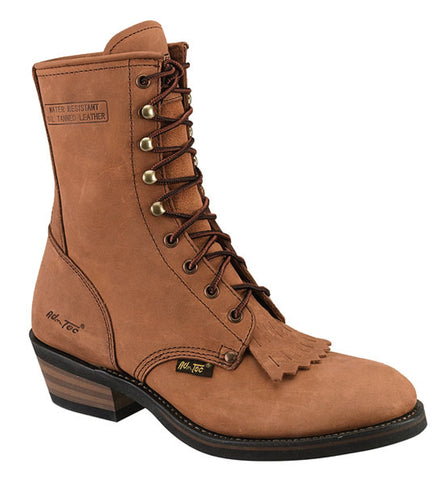 AdTec Womens Tan 8in Packer Crazy Horse Leather Work Boots