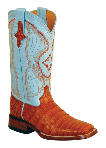 Womens Ferrini Brown Cognac Belly Caiman Crocodile S Toe Western Boots