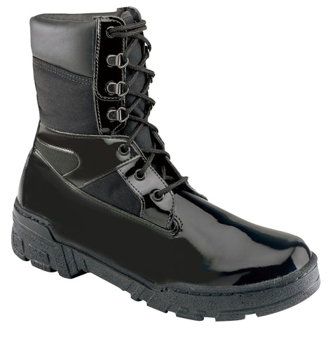 Thorogood Mens Black Poromeric Cordura Uniform Boots 8in Commando Plus