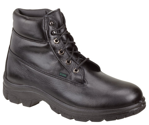 Thorogood Mens Softstreets Black Leather Boots 6in WP Insulated Sport