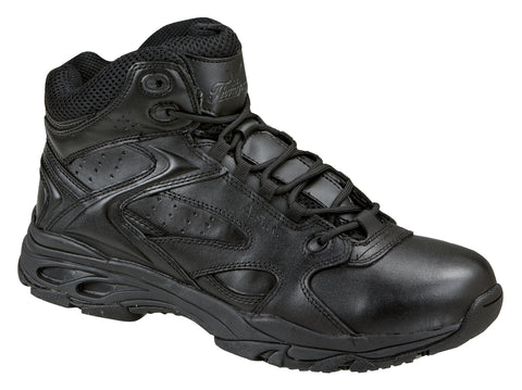 Thorogood Mens Ultra Light Black Leather Athletic Boots Mid Cut