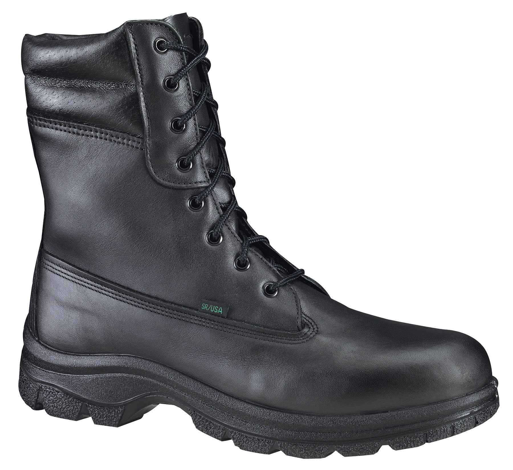 46632c33f1d Thorogood Mens WP Black Leather Weatherbuster Boots 8in Insulated