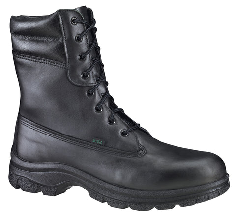 Thorogood Mens WP Black Leather Weatherbuster Boots 8in Insulated