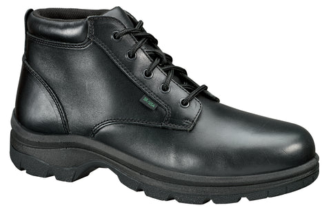Thorogood Mens Softstreets Black Leather Boots Plain Toe Chukka