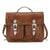 American West Retro Romance 2 Compartment Briefcase Antique Brown Leather Tooled