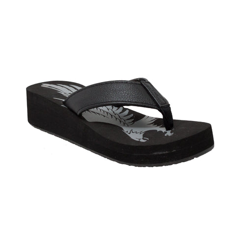 Ride Tecs Womens Black Eagle Thong Sandal Synthetic